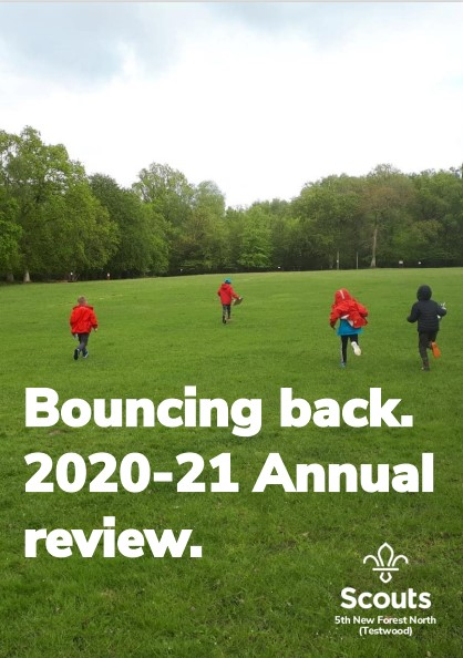 The front cover of our AGM booklet for 2021.